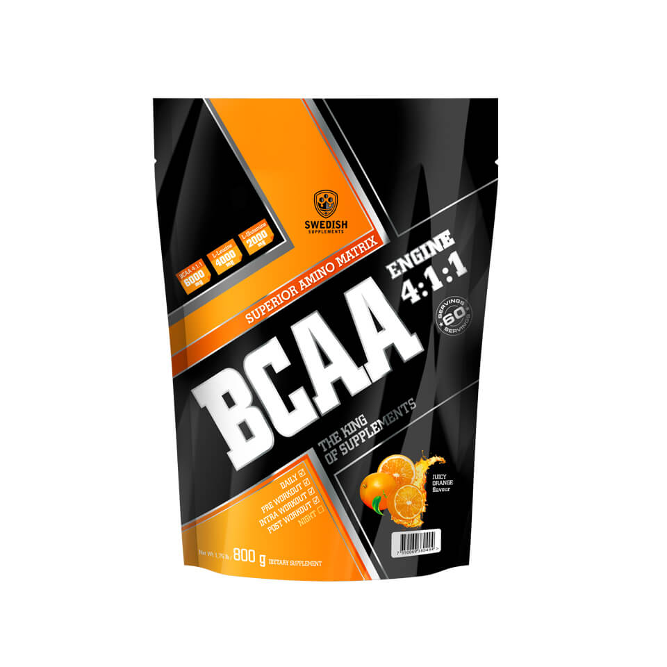 Swedish Supplements BCAA Engine 4:1:1 800 g Juicy Orange