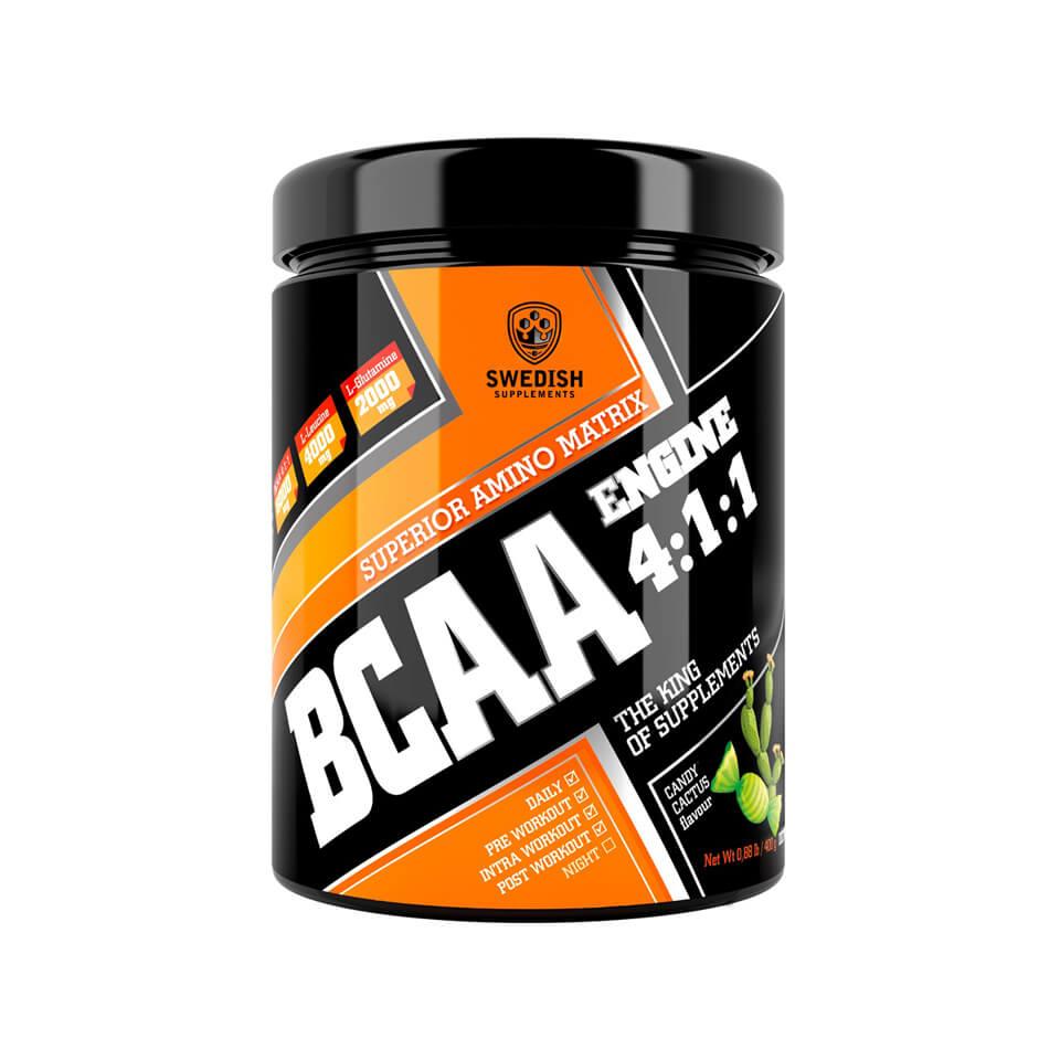 Swedish Supplements BCAA Engine 4:1:1 400 g Candy Cactus