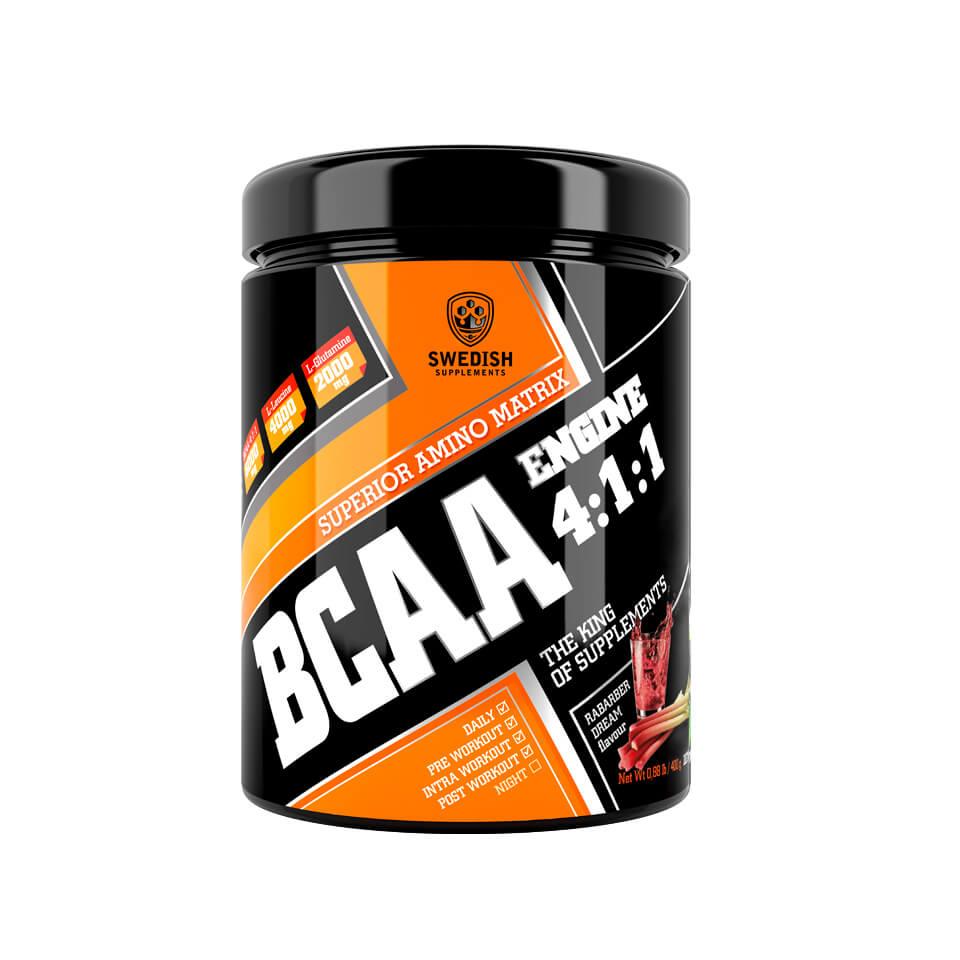 Swedish Supplements BCAA Engine 4:1:1 400 g Rhubarb Dream