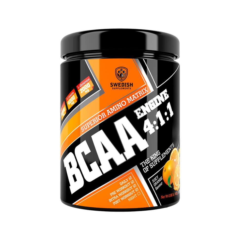 Swedish Supplements BCAA Engine 4:1:1 400 g Juice Orange