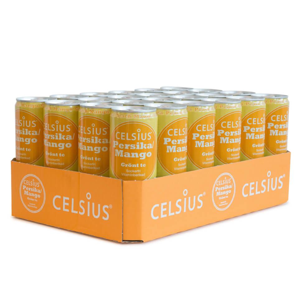 Celsius Flak 24-pack Persika Mango