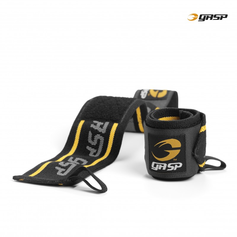 Gasp Wrist Wraps Black/Yellow - Gasp