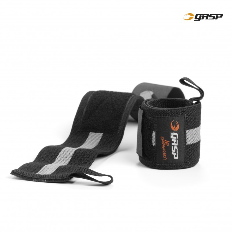 Gasp 1RM Wrist Wraps Black/Grey - Gasp