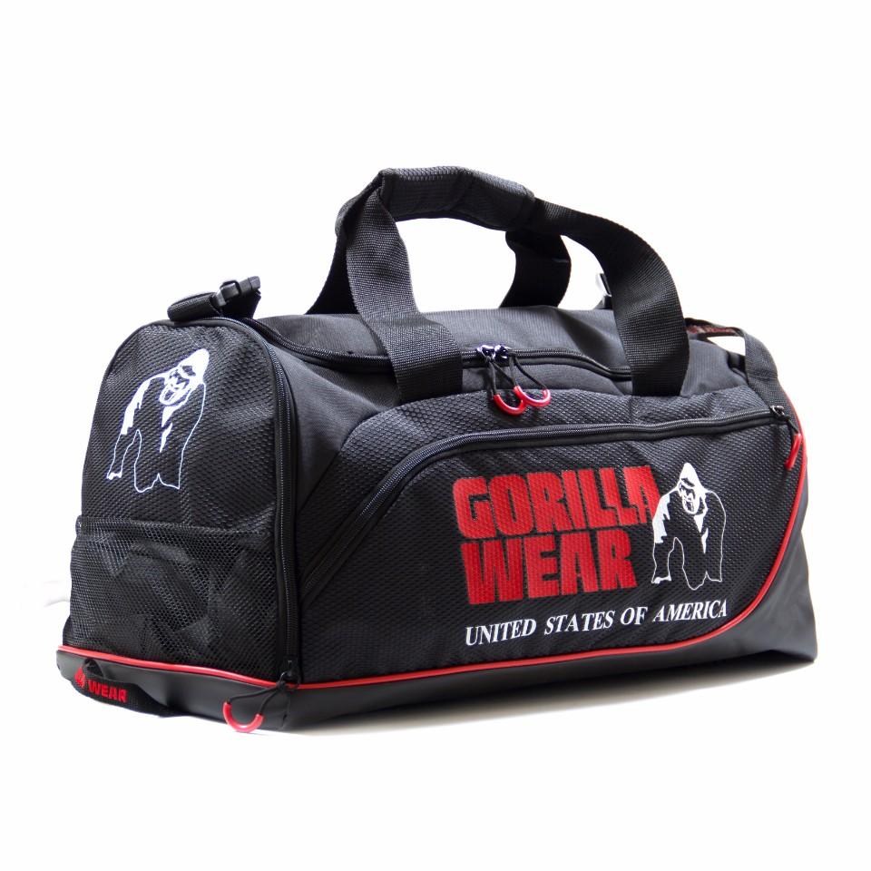 Gorilla Wear Jerome Gym Bag Svart/Röd - Gorilla Wear