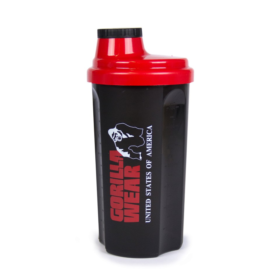 Gorilla Wear Shaker 700 ml Svart/Röd - Gorilla Wear