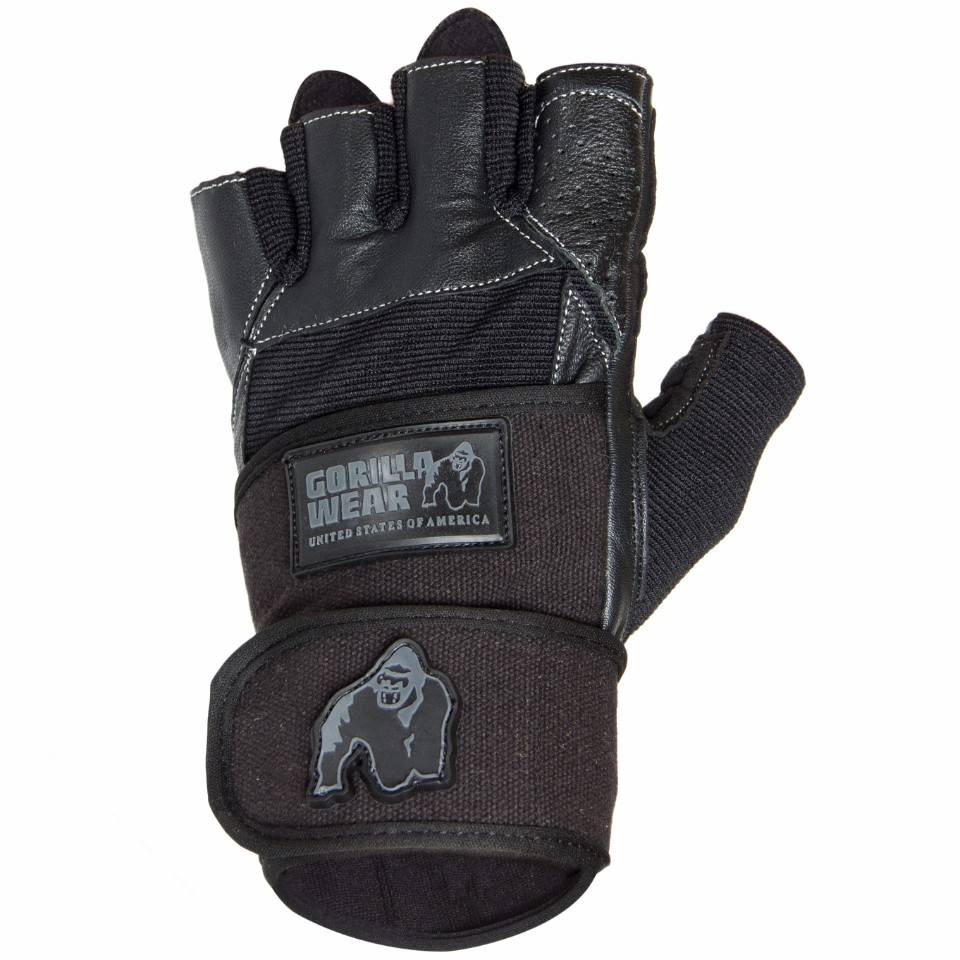 Gorilla Wear Dallas Wrist Wrap Gloves Svart M - Gorilla Wear
