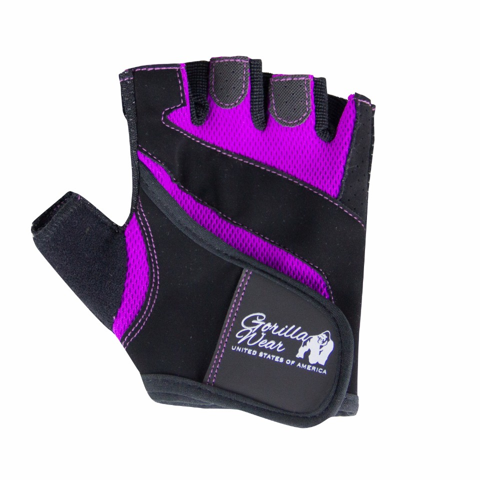Gorilla Wear Women's Fitness Gloves Svart/Lila S - Gorilla Wear