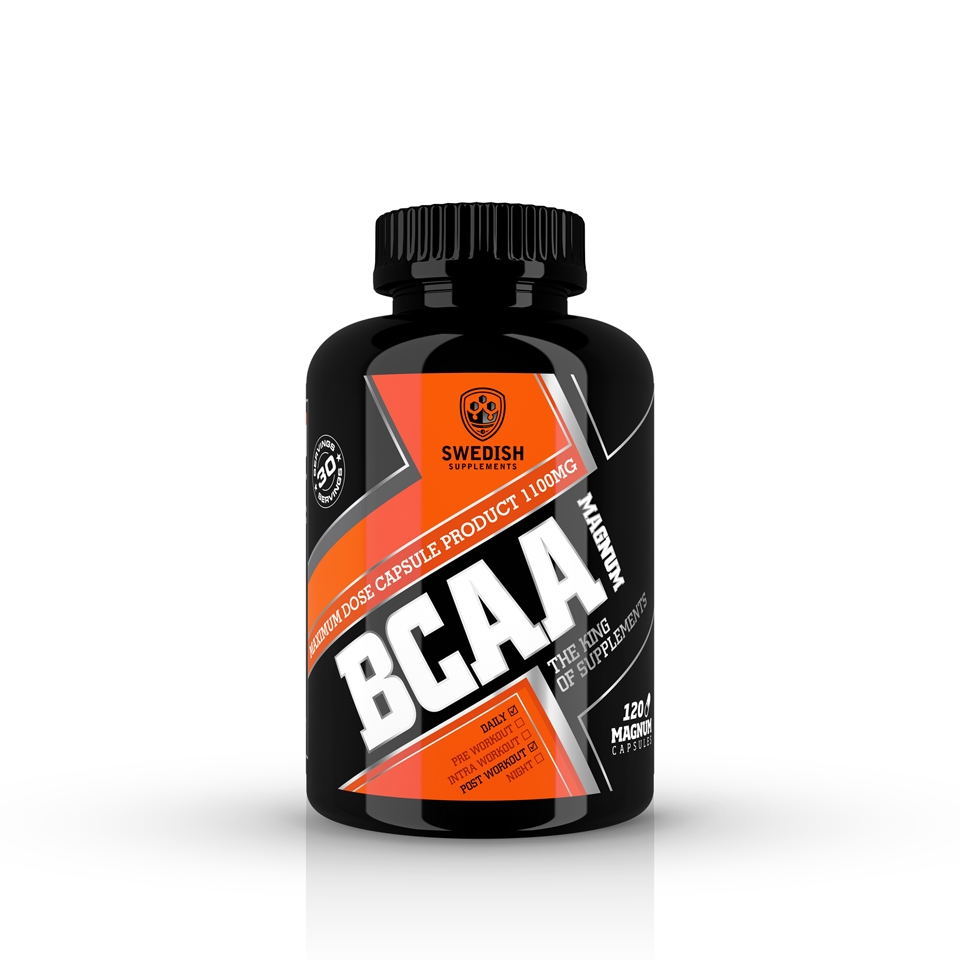 Swedish Supplements BCAA Magnum 120 kapslar - Swedish Supplements