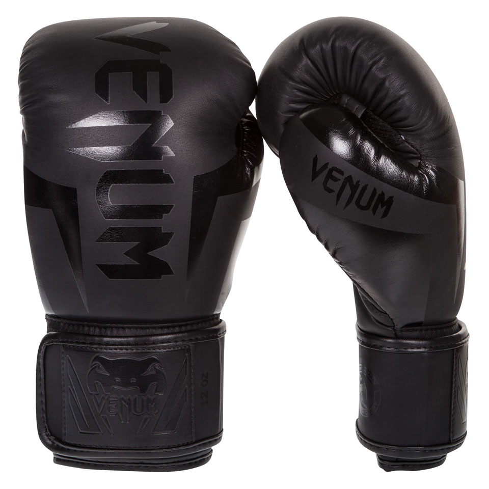 Venum Elite Boxing Gloves Black Neo Matte/Black 10oz - Venum