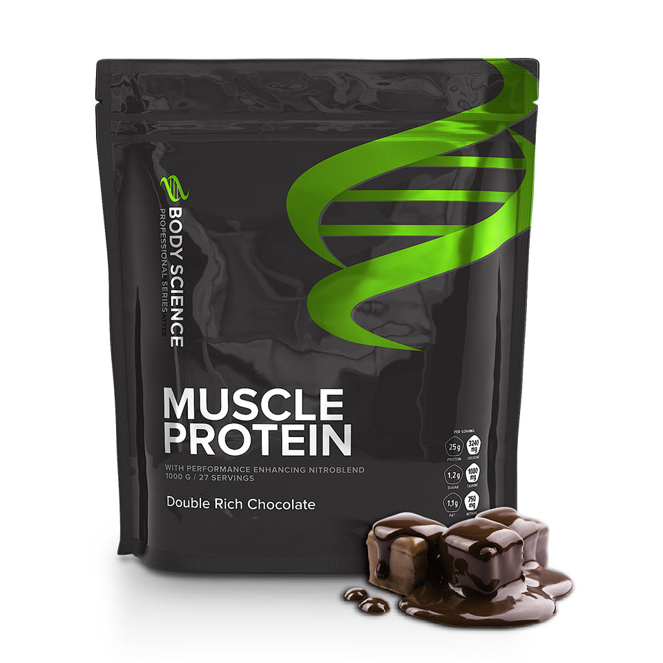 Body Science Muscle Protein 1 kg Double Rich Chocolate - Body Science
