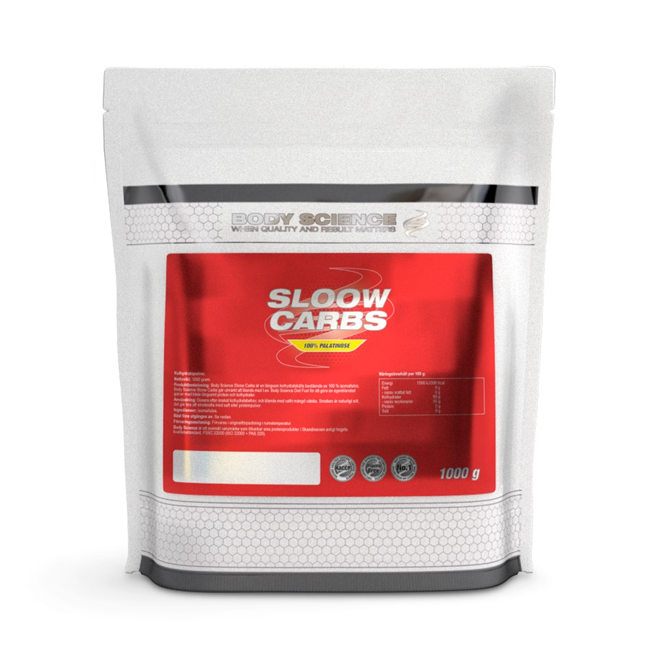 Långsamma kolhydrater – Body Science Sloow Carbs, 1kg - Body Science