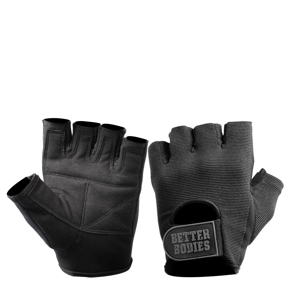 Better Bodies Basic gym gloves Black XS - Better Bodies