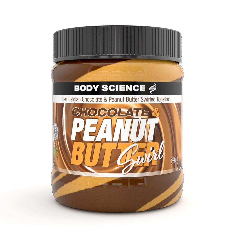 Jordnötssmör – Body Science Chocolate & Peanut Butter Swirl, 340 gram - Body Science