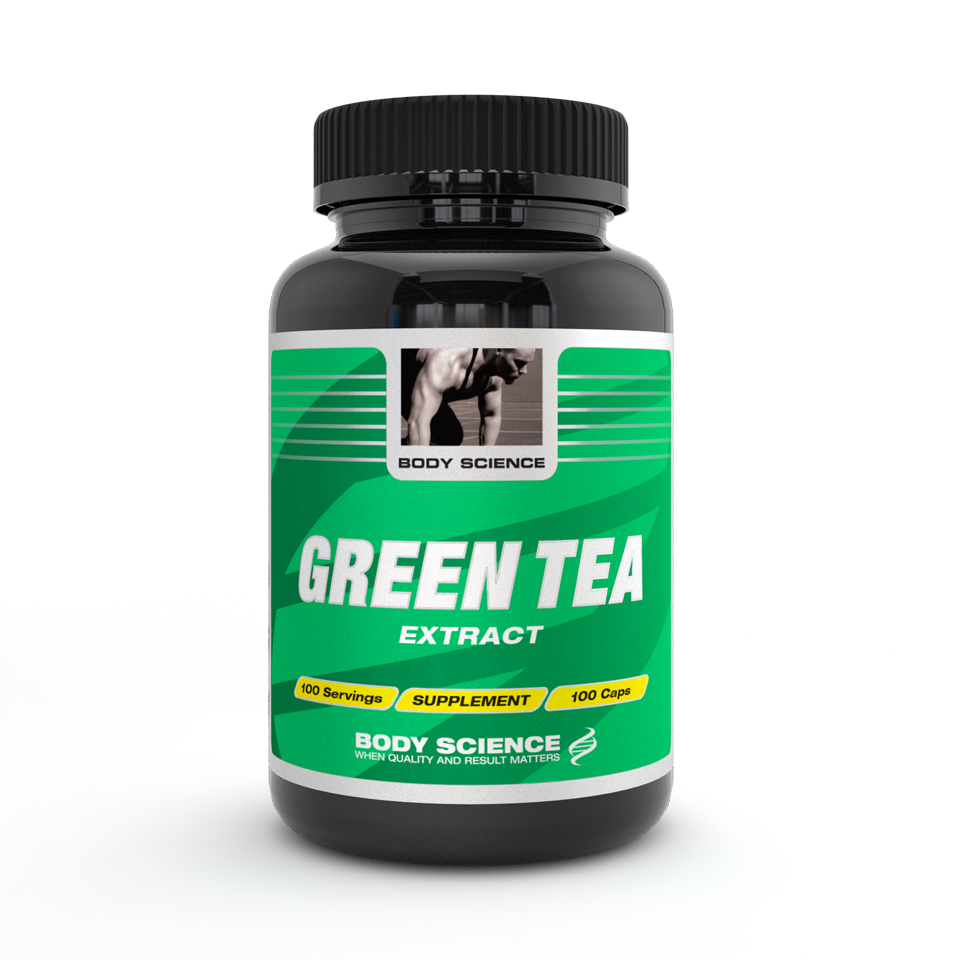Grönt te-extrakt – Body Science Green Tea, 100 kapslar - Antioxidanter - Body Science