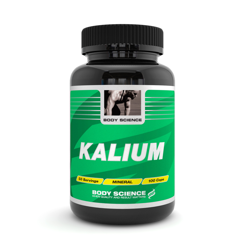 Body Science Kalium, 100 kapslar – Mineraler - Body Science
