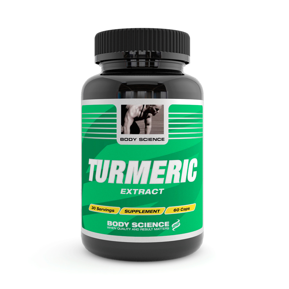 Gurkmeja – Body Science Turmeric, 60 Kapslar - Antioxidanter - Body Science