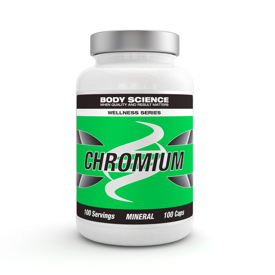 Krom – Body Science Wellness Series Chromium, 100 kapslar - Mineraler - Body Science Wellness Series