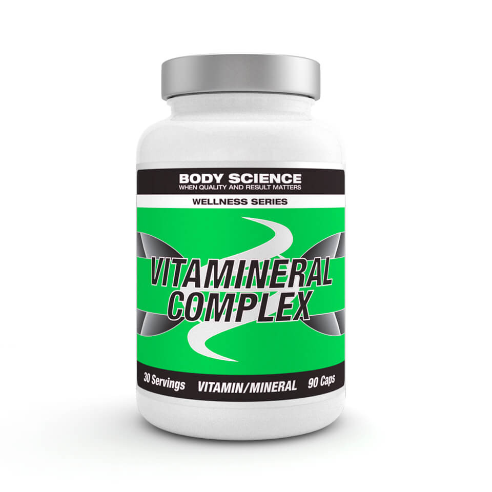 Multivitamin – Body Science Wellness Series Vitamineral Complex, 90 kapslar - Vitaminer och mineraler - Body Science Wellness Series