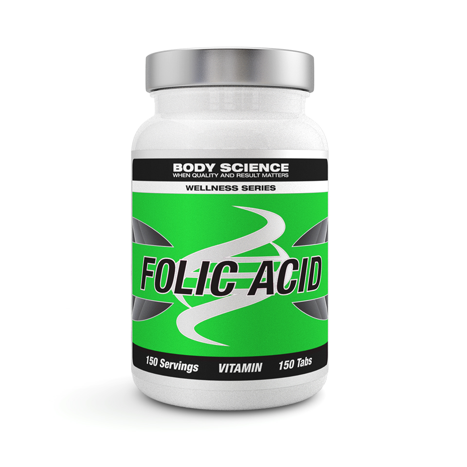 Folsyra – Body Science Wellness Series Folic Acid, 150 tabletter - Vitaminer - Body Science Wellness Series