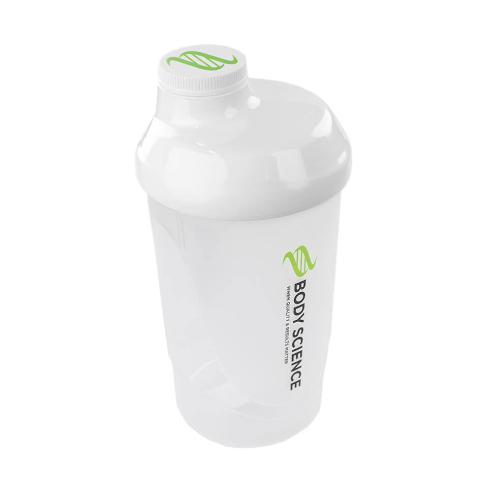 Body Science Shaker, 600 ml, Vit - Träningstillbehör - Body Science