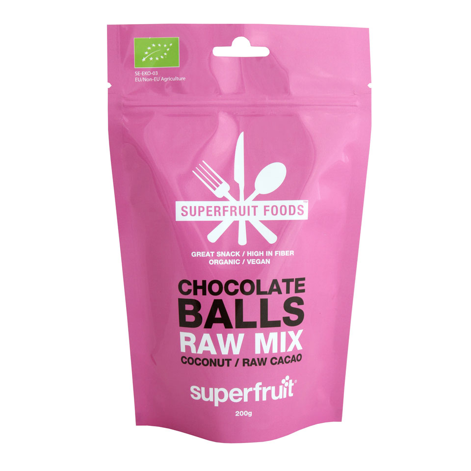 Superfruit Raw Mix Chocolate Balls 200 gram Chokad - Superfruit