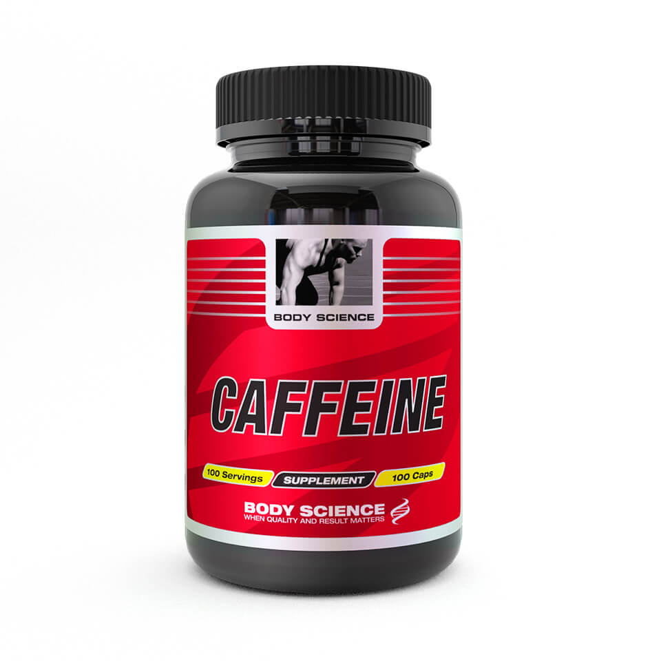 Koffein – Body Science Caffeine, 100 kapslar - Prestationshöjare, Koffeintabletter - Body Science