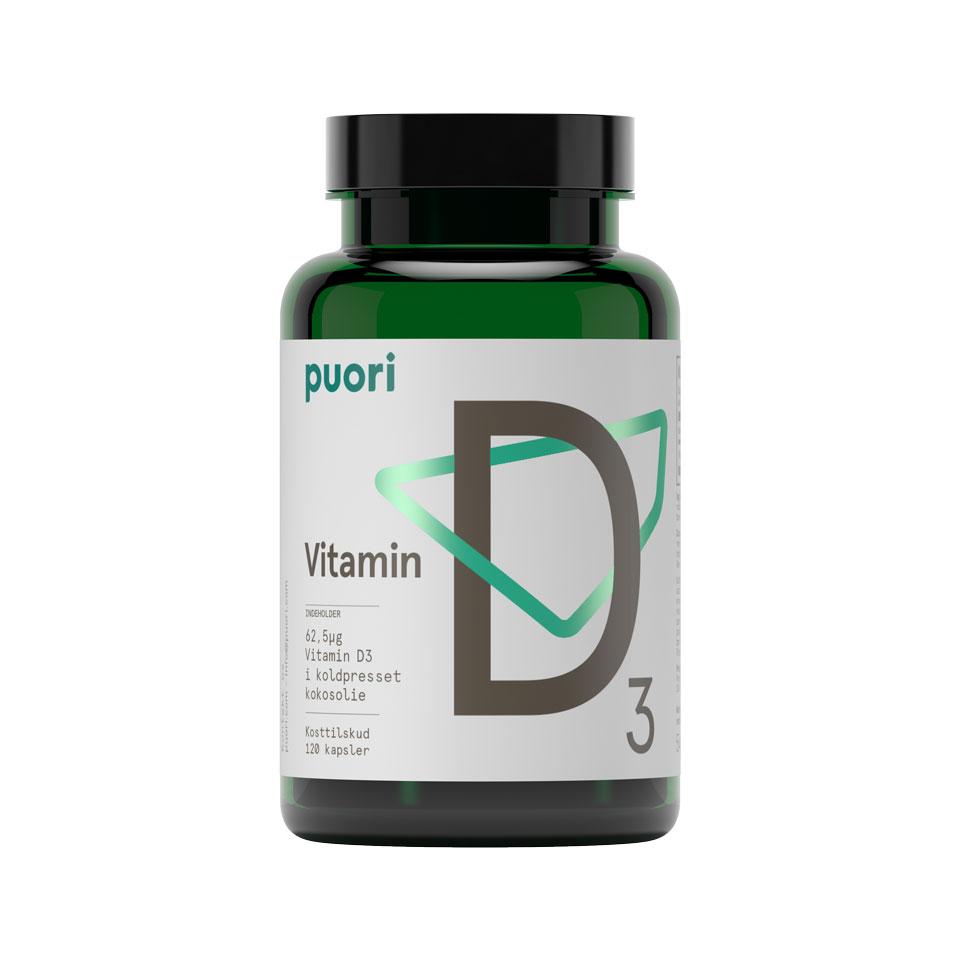 Puori D3 2500 D3-vitamin 120 Kapslar - Puori