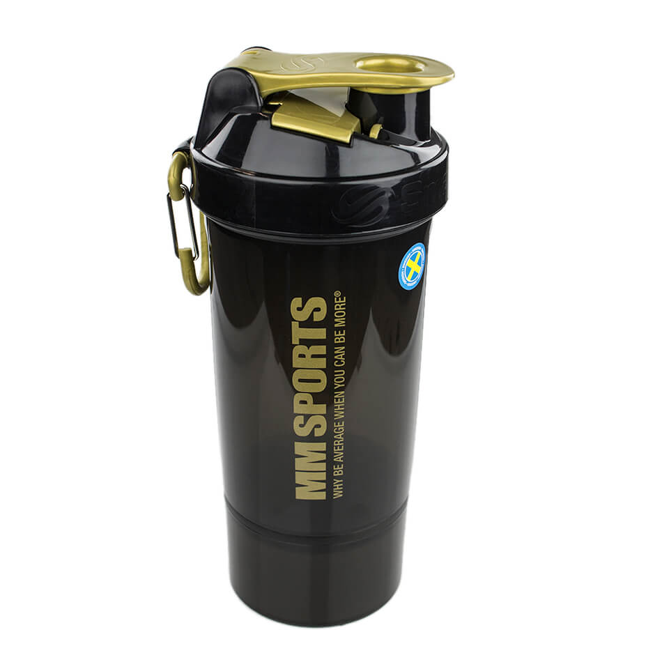 Shaker – MM Sports LTD SmartShake, 800 ml, Gold/Black - Träningstillbehör - MM Sports