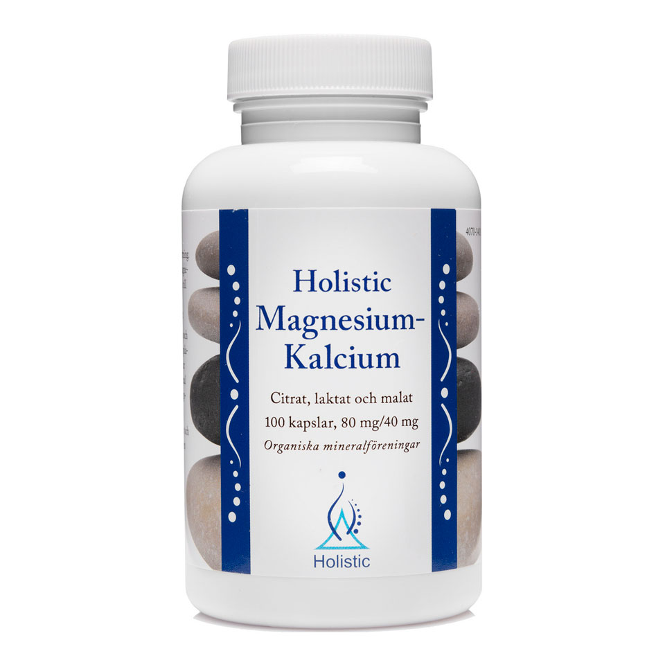 Holistic Magnesium/Kalcium 100 kapslar - Holistic