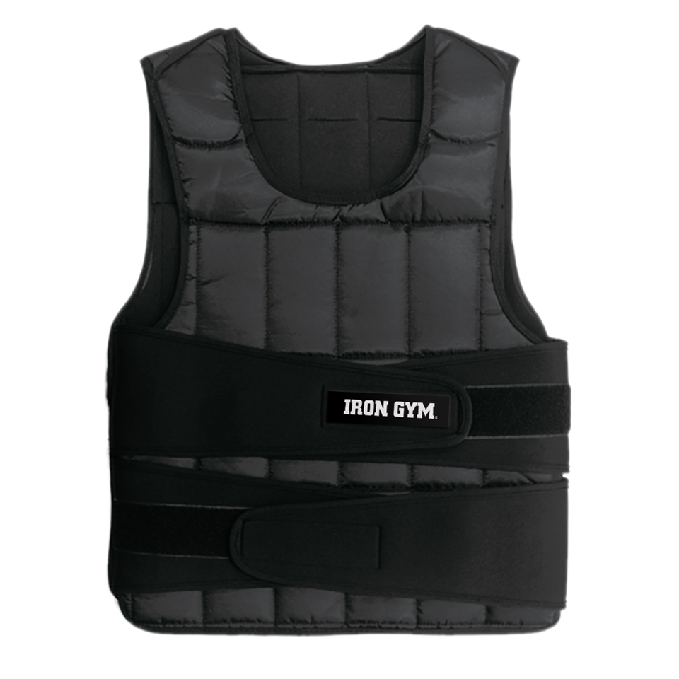 Iron Gym Weight Vest 10kg Black - Iron Gym