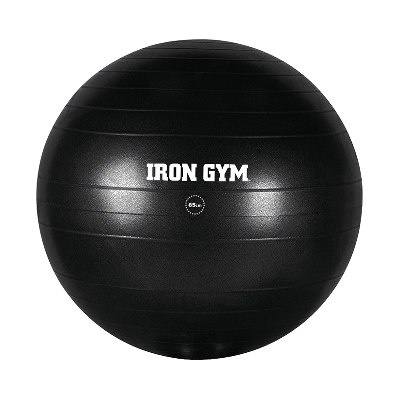 Iron Gym Exercise Ball 65cm Inc. Pump Svart - Iron Gym