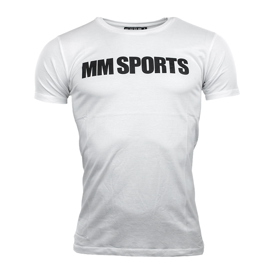 MM Sports T-shirt Man, White - XL - Träningskläder