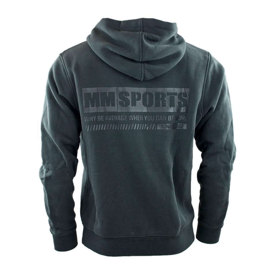 MM Sports träningshoodie – MM Hood HD, Raven, Small - Träningskläder