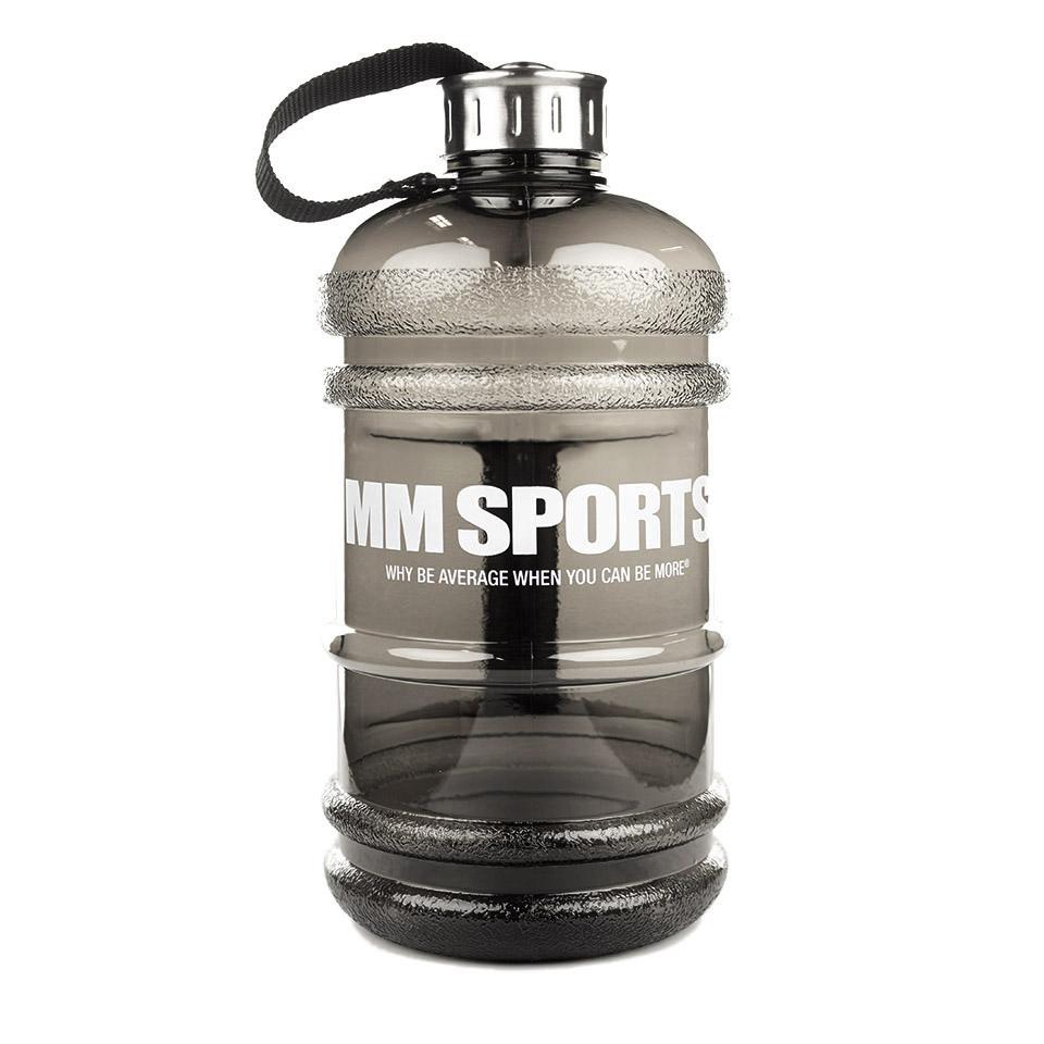 Vattenflaska – MM Sports Jug 2,2L, Smoke Black - Träningstillbehör - MM Sports