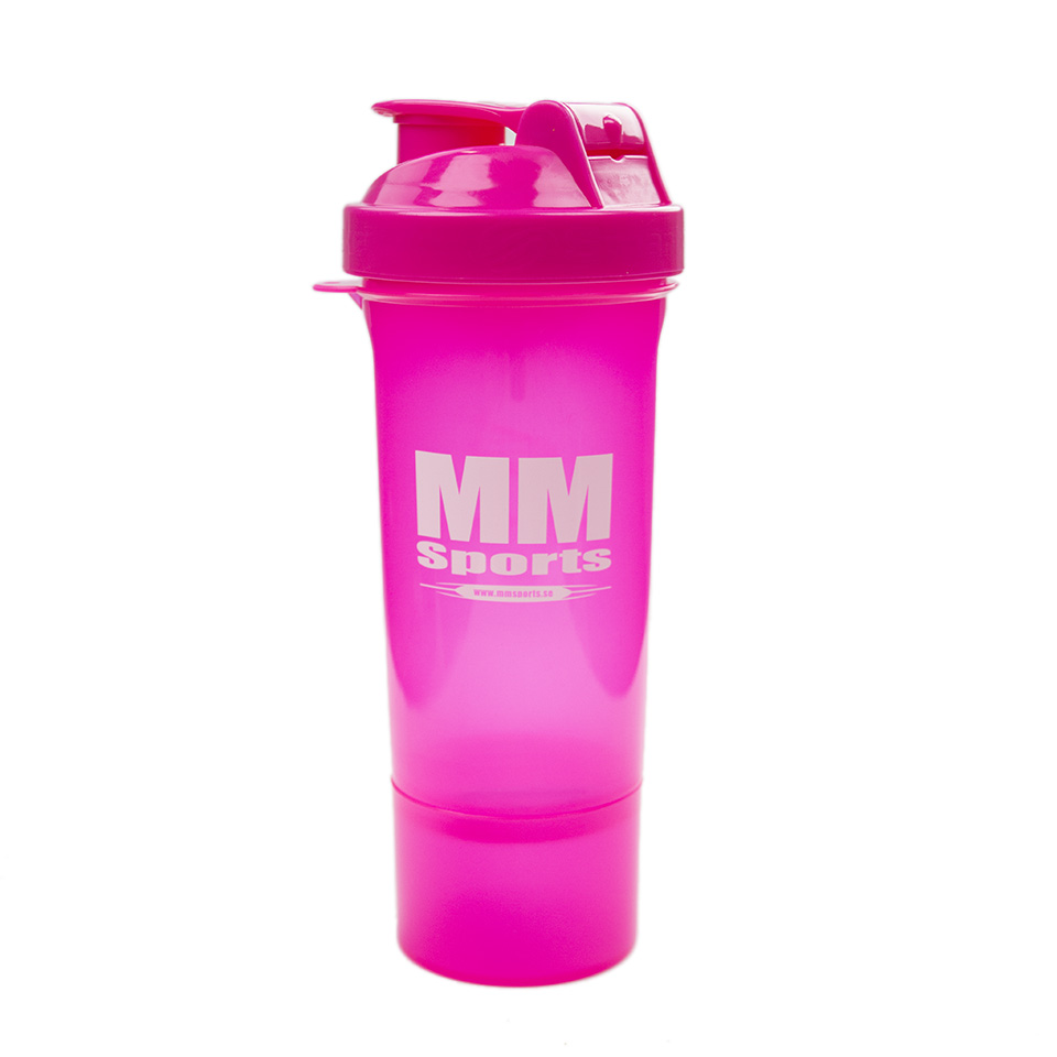 Shaker – MM Sports SmartShake Slim, 500ml, Pink - Träningstillbehör - MM Sports