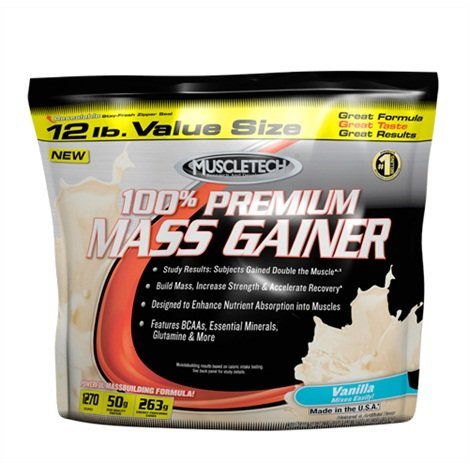 MuscleTech 100% Premium Mass Gainer Strawberry - MuscleTech