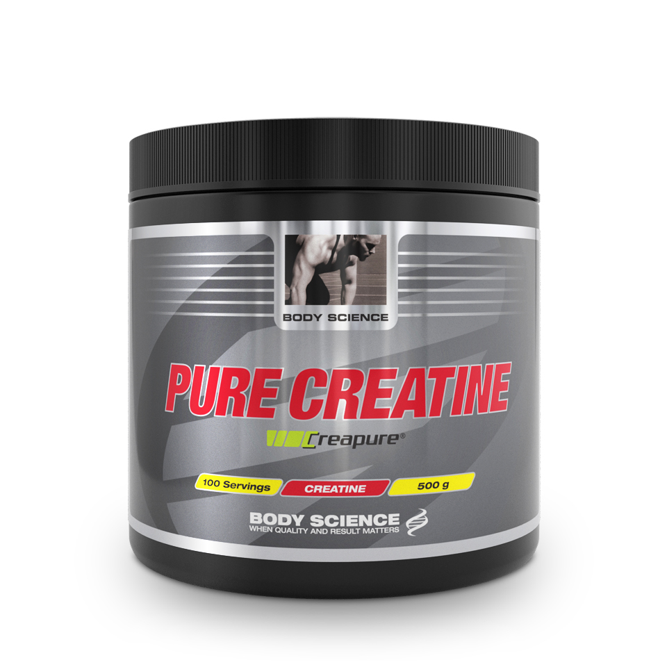 Kreatin – Body Science Pure Creatine, 500 g - Kreatin monohydrat - Body Science