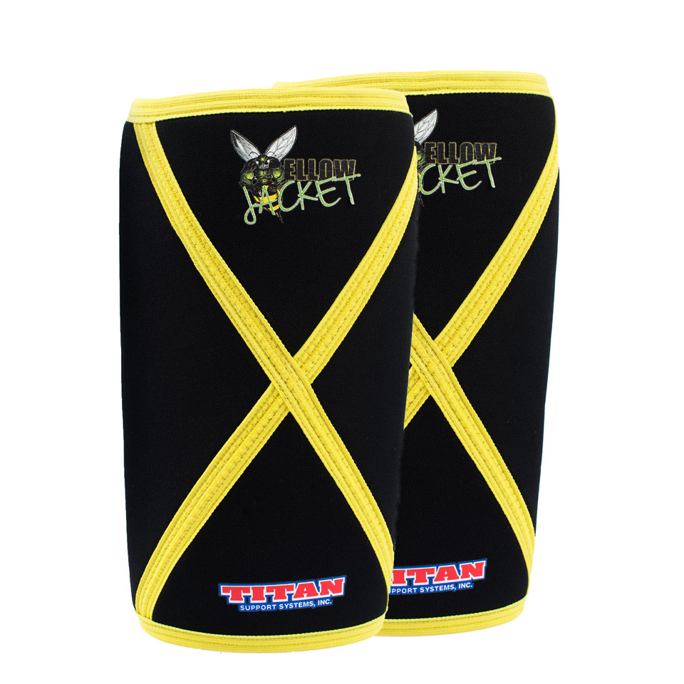 TITAN Knee Sleeves IPF Black/Yellow L - TITAN