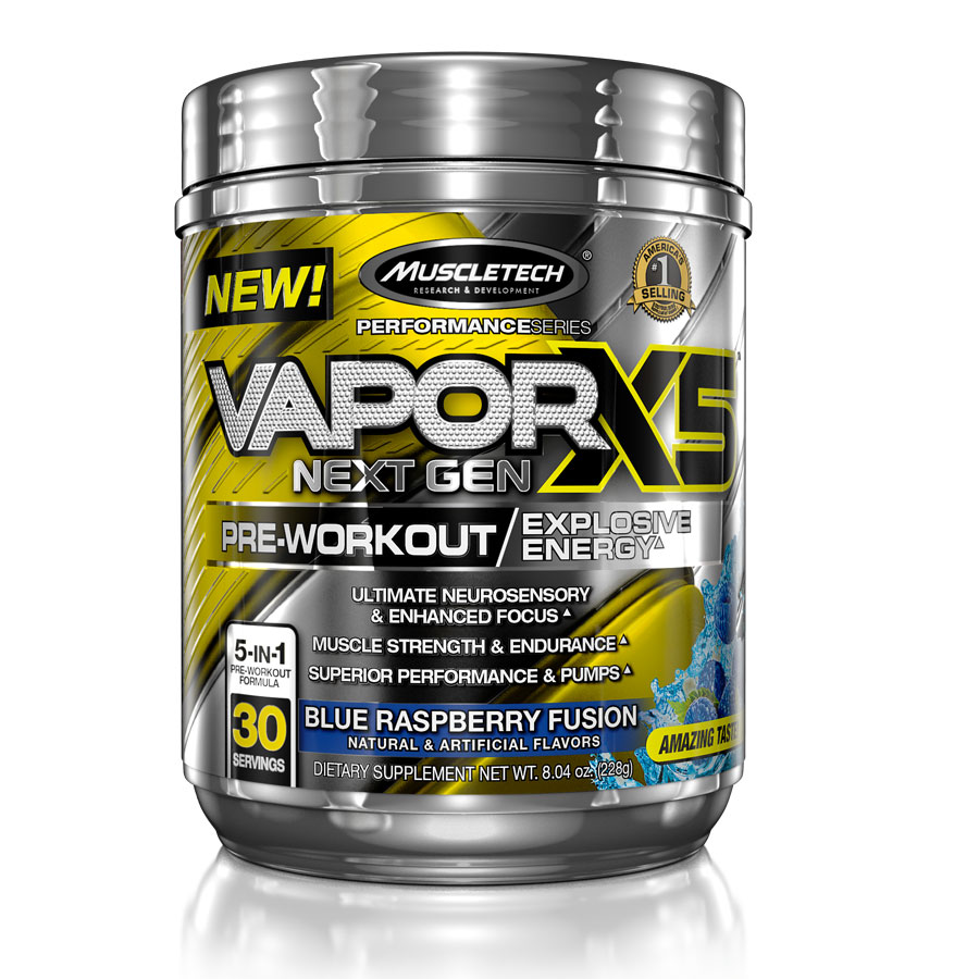 Muscletech Vapor X5 Next Gen 30 servings Fruit Punch - MuscleTech