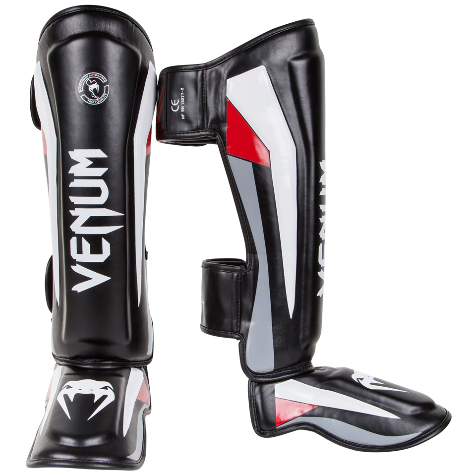 Venum ''Elite'' Standup Shinguards Black/Red L - Venum