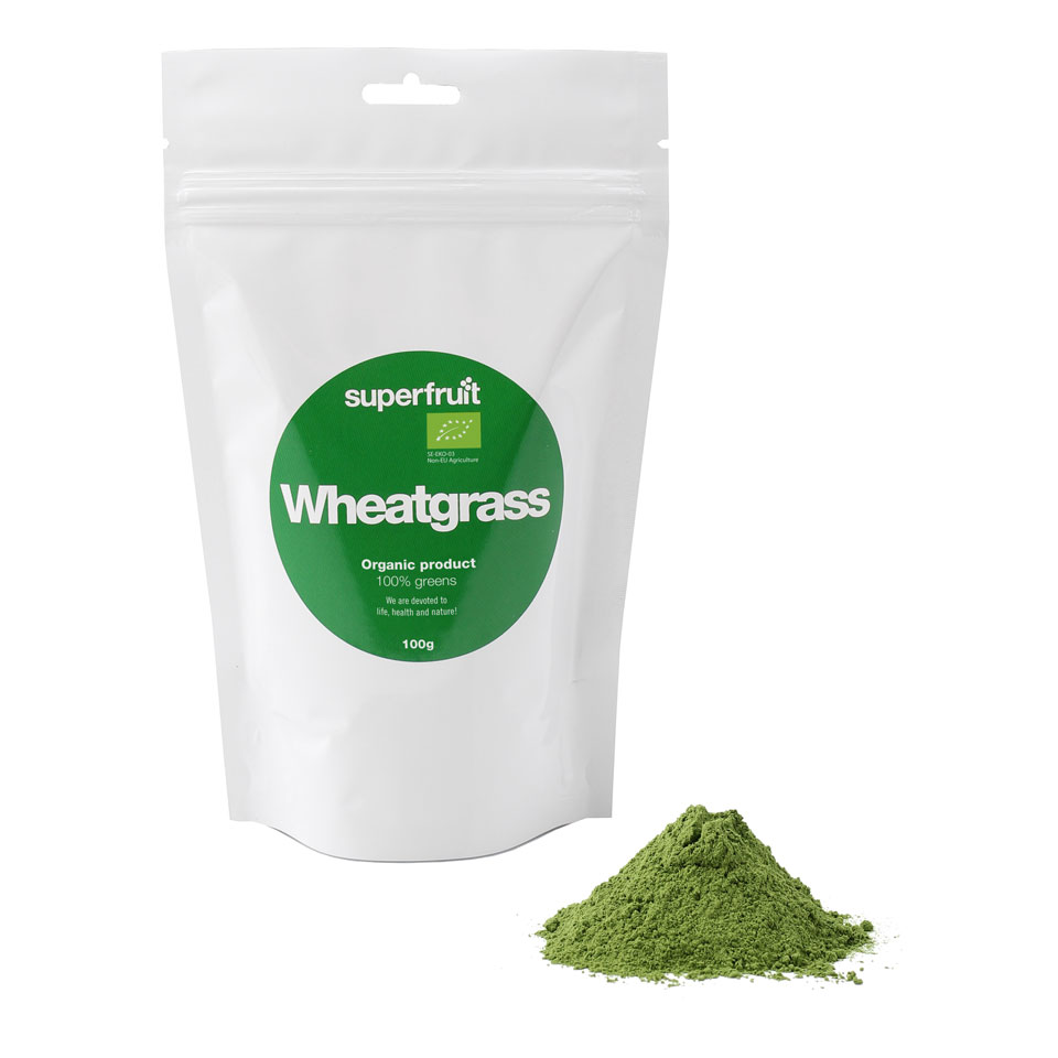 Superfruit Wheatgrass/Vetegräs Powder 100 gram - Superfruit