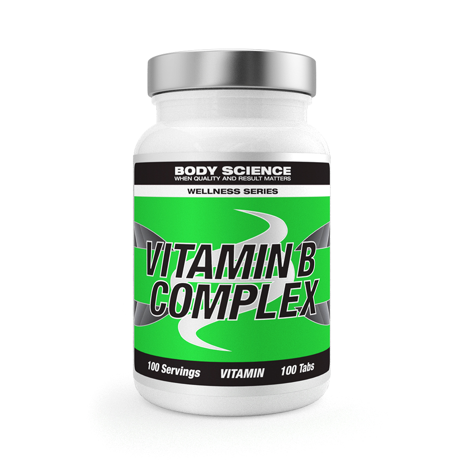 B-vitamin – Body Science Wellness Series Vitamin B Complex, 100 tabletter - Vitaminer - Body Science Wellness Series