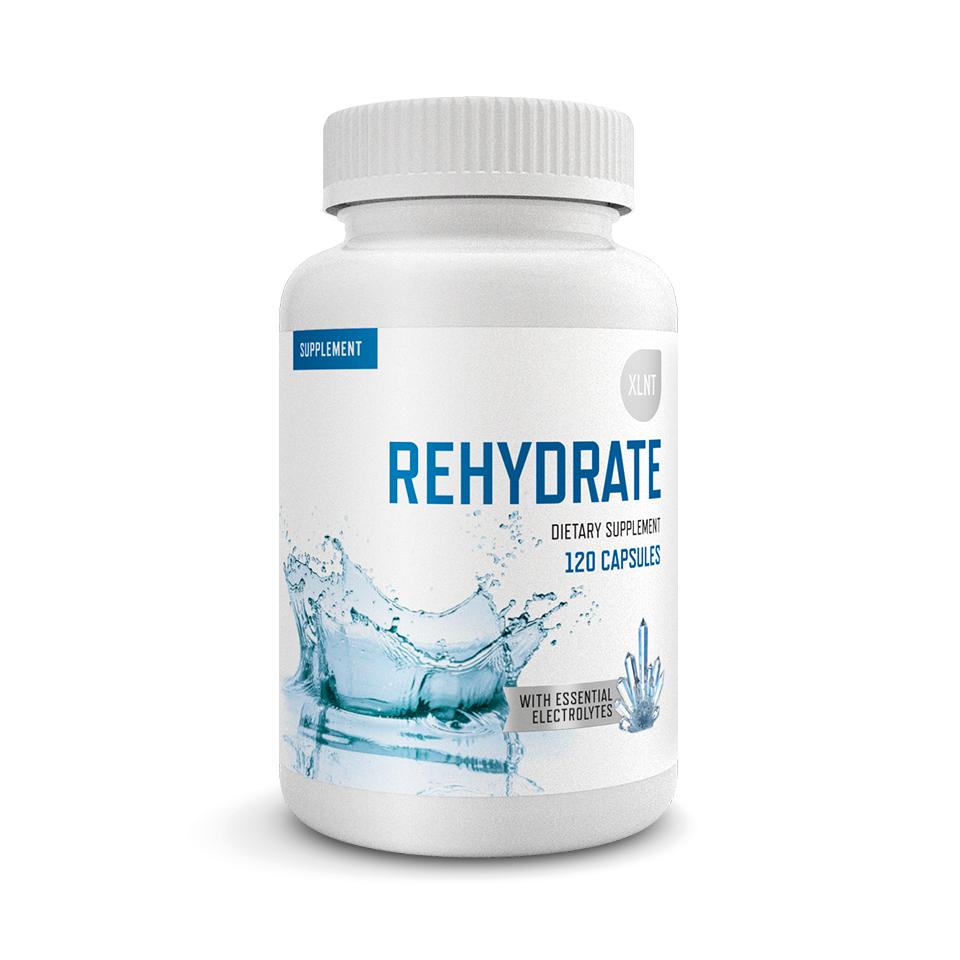 Vätskeersättning – XLNT Sports Rehydrate, 120 kapslar - XLNT Sports