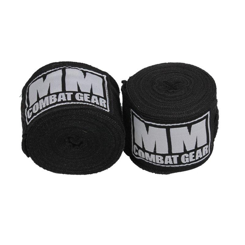 Boxningslindor – MM Combat Hand Wraps, Svart - Träningstillbehör - MM Combat