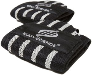Handledsstöd – Body Science Wrist Wraps, Svart, One Size - Träningstillbehör - Body Science