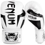 Venum Elite Boxing Gloves, White/Black