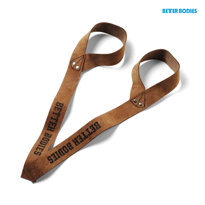 Better Bodies 1,5 in.leather strap Brown leather - Better Bodies