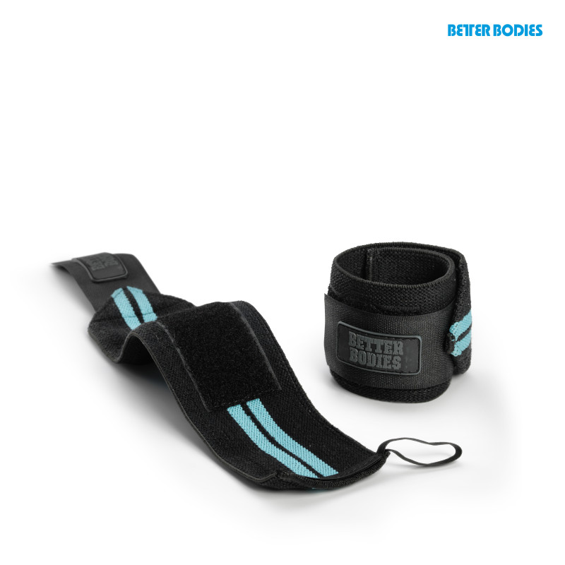 Better Bodies Womens Wrist Wraps Aqua Blue - Better Bodies