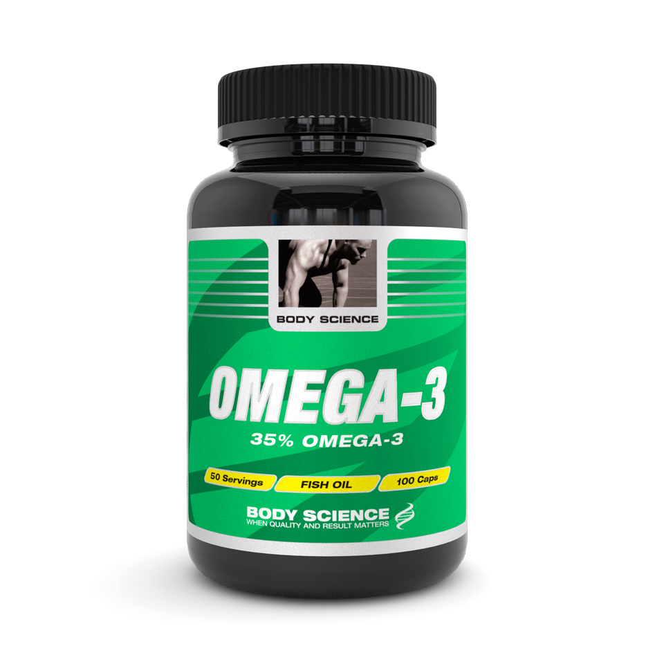 Omega-3 Body Science, 300 kapslar - Fiskolja, Fettsyror - Body Science