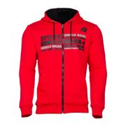 Gorilla Wear Bowie Mesh Zipped Hoodie, Red
